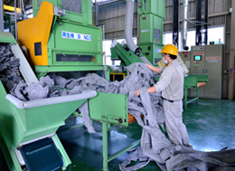 Production of acoustic material using recycled fibers at Higashi Kyushu and Shizuoka plants